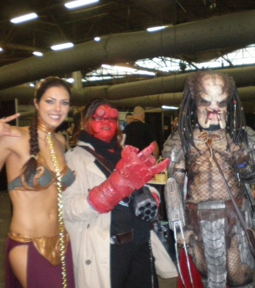 Leia, Hell Girl, and Pred are up for a threesome! by theroyalpredator on flickr Apparently that is Adrianne Curry