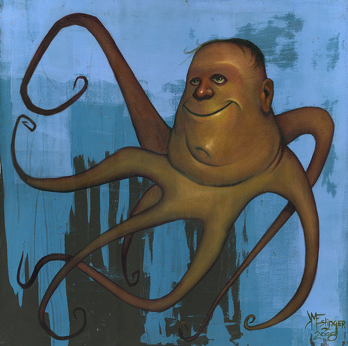 Title : Octopus Artist : Kevin  Eslinger Artist's Comments : This was my first painting about my work life.
