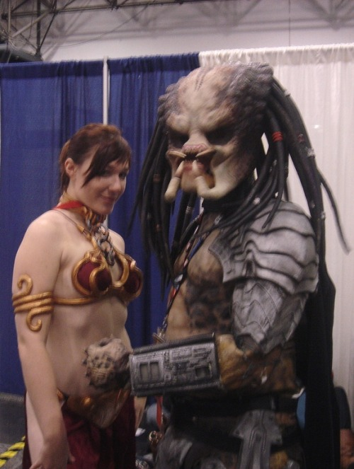 Pred's a little less creepy than Jabba via theroyalpredator on flickr