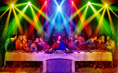 DJ Jesus, died for your spins?