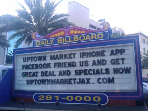 "Want to download the Uptown Market Application? Just go to: http://specials.uptownmarketjax.com then hit your ""+"" button then choose ""add to home screen""! Voila! You are now one touch away from all the specials all the time! You can also keep up with us by joining our mailing list at the same page and BE OUR FRIEND ON FACEBOOK!"