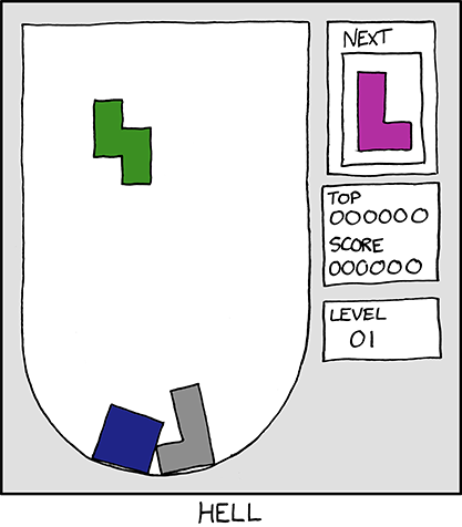 tetris is hell.