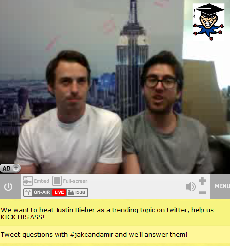 I hope everyone got to see the livechat!  I took sheesh tons of screencaps, which I'll queue for you guys through out the night :D
