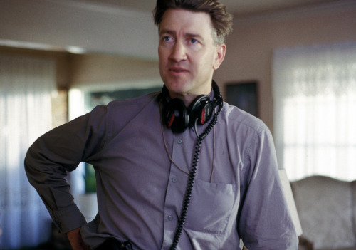 David Lynch on the set of Wild at Heart.