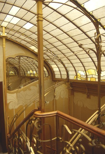 "my-ear-trumpet:  harvestheart:  Staircase of the Maison & Atelier of Victor Horta. This building is one of four Horta-designed town houses in Brussels that are together recognised by UNESCO as ""representing the highest expression of the influential Art Nouveau style in art and architecture."""
