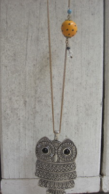 hoot hoot for sara R… suz R made a lovely present choice for you… a custom upcycled piece of jewelry a la jae.c.maie (www.etsy.com/shop/jaecmaie)