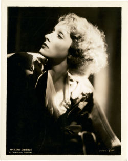 Marlene Dietrich by Eugene Robert Richee. Costume by Travis Banton.