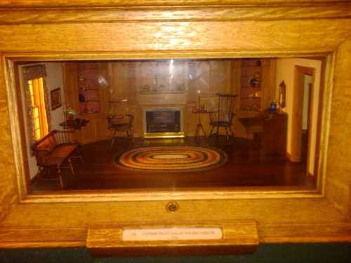 Teeny Connecticut parlor, circa 1750, in the Thorne Miniature Rooms exhibit at the Art Institute of Chicago.