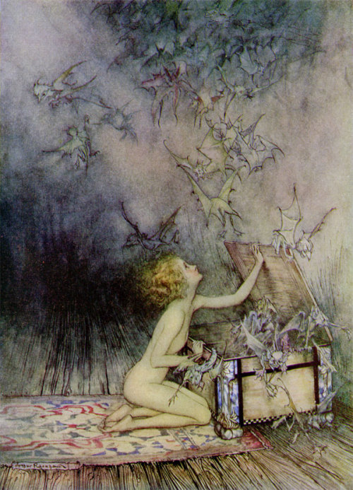 suicideblonde:  Pandora's Box by Arthur Rickham