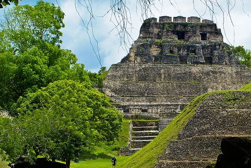 Mayan Ruins at Xunan Tunich, Belize by Dennis Jarvis