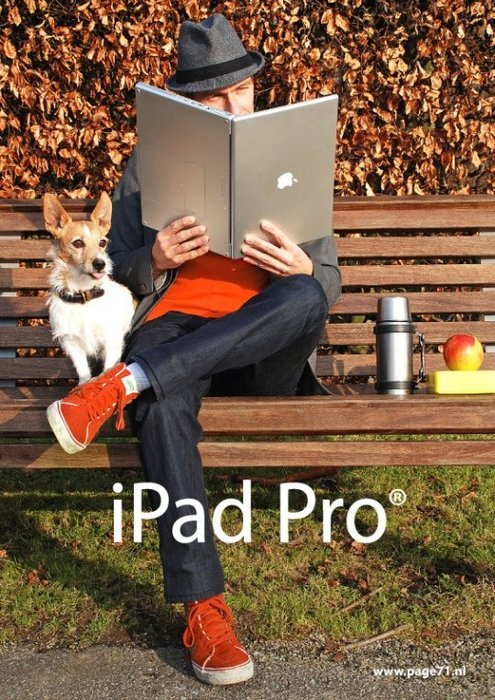 -mockingbird:  dorkvader:  9gag:  iPad Pro    sheer win.