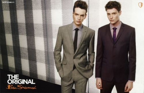 From the Ben Sherman summer 2010 collection. Love the tailoring and use of texture.