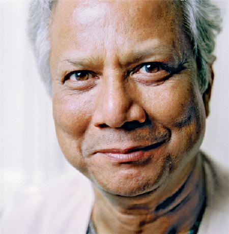 benetc:  This is Muhammad Yunus he only lends money to people with no job, no assets, no income and no  education (don't worry he's a not a loan shark). More info here.  Amazing.