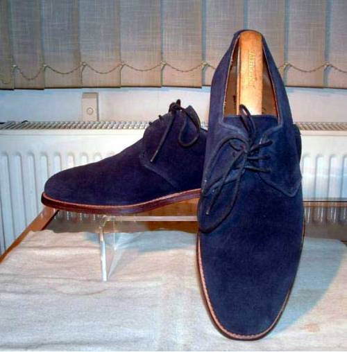 It's On eBay Blue Suede Derbies by Alfred Sargent Starts at $46.06, ends early Saturday morning