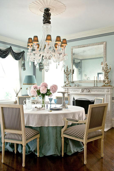 robot-heart:  Traditional Home (via House of Turquoise: Luxurious Dining)