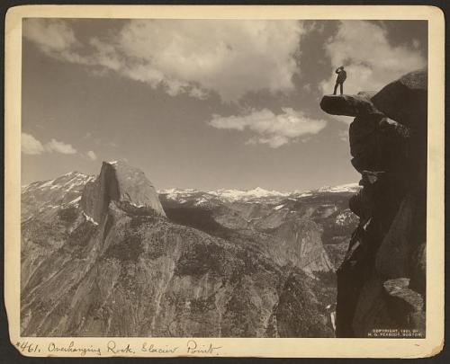 Overhanging Rock, Glacier Point,c.1901 by H. [Henry] G. [Greenwood] Peabody, Boston