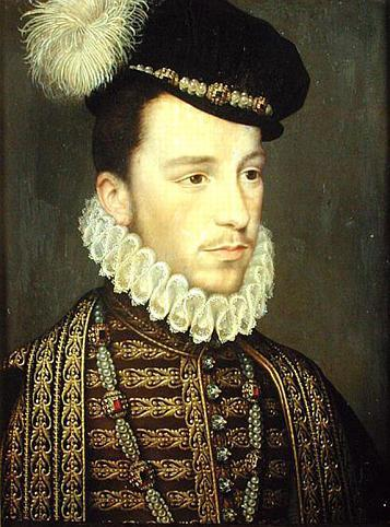 "This is Henri III, King of France. All sorts of debonair. His mom called him ""Chers Yeux,"" which is both deeply disturbing and strangely erotic. And nine, he was all cute and rebellious and decided he was a Protestant. His parents were pissed. Also, everyone thought he was gay, because he didn't like war and hunting (Say it with me: ""Awwwwww!""), but he probably wasn't maybe. Who knows. Spot The Gay World Ruler is every historian's favorite game. He probably liked women too, at least. But best of all, he just loved silly hats."