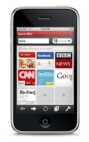 strake:  mattonrails:  Opera Mini for iPhone is approved. Choice is good! But I can't wait to give it a try.  I'm excited to try this and even if I don't stick with it, I'm thrilled that there won't be any further  App Store-rejection drama.