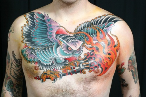 Tags traditional tattoo tattoo chest piece name brand