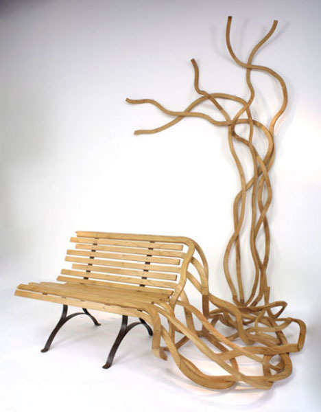 Artistic Furniture: Creative Custom Wood Benches & Chairs by Pablo Reinoso