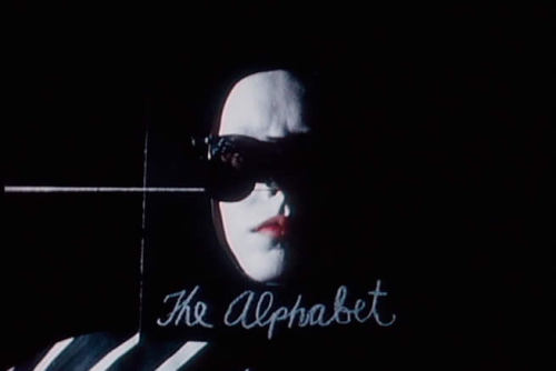 A still from David Lynch's first short film, The Alphabet.