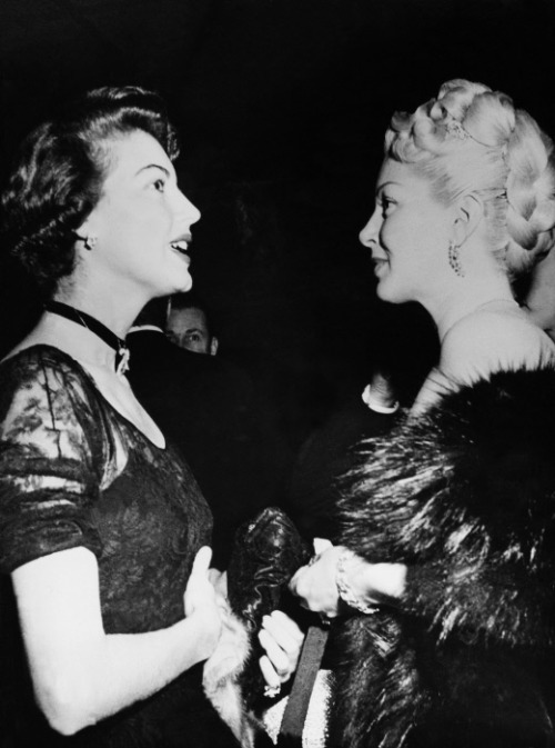 Ava Gardner and Lana Turner 1950's