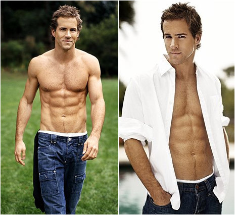 walkingwithdolphins:  # 13 RYAN REYNOLDS *look at those abs good god  Gee i want this abs