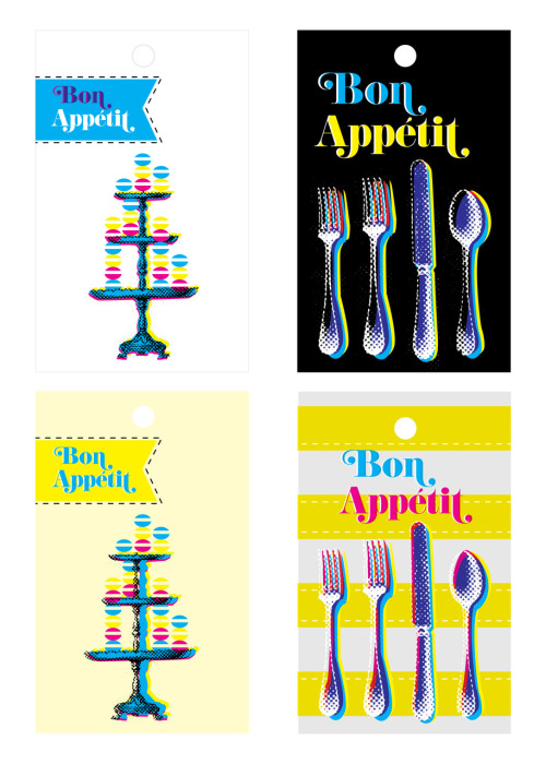 GIFT TAGS For a festive dinner party, Bon Appetit!