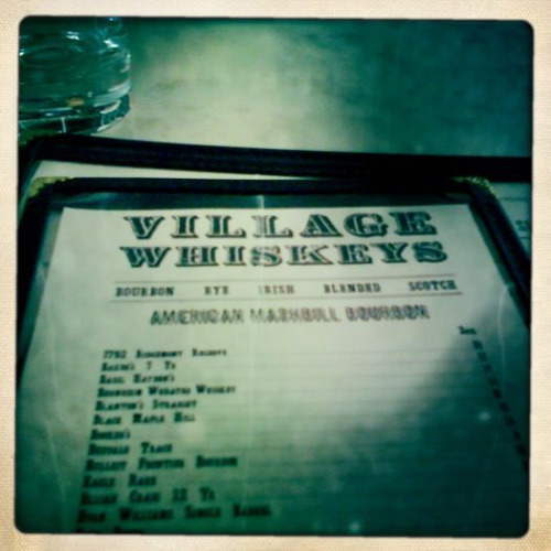 Village Whiskey with mick delo. Trying to do one lunch date a week.