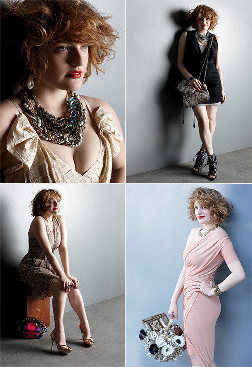 "I love ""Mad Men,"" I love Elizabeth Moss, I love Elizabeth Moss as Peggy on ""Mad Men,"" but most of all, I love ACCESSORIES. So wouldn't it be my luck that I stumble into a magazine store (not that I'm there like, every other day or anything) and find Elizabeth Moss on the cover of WWD Accessories workin' some sassy outfits. Imagine that. More photos and full article at WWD.com"