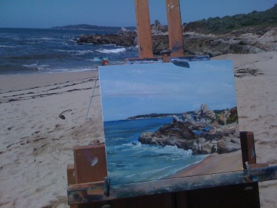 Plein Aire session in Carmel