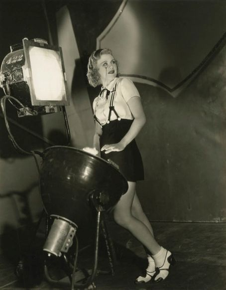Ginger Rogers on the set of Gold Diggers Of 1933
