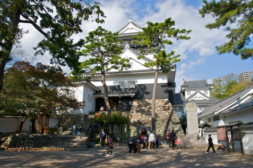 Okazaki Castle is located Okazaki, Aichi Prefecture. It is one of the 100 best castles in Japan. It is a medium sized castle with the Gokoku Shrine located in the Honmaru. The Original castle used to be the 4th biggest castle in Japan.  Okazaki Castle is known as the birthplace of one of the most influential men in Japanese history, Tokugawa Ieyasu. The original castle dates from 1455 and was built on the grounds of Myodaiji Temple by Saigo Tsugiyori. The castle was moved to its present location by Ieyasu's grandfather in 1531. After Ieyasu was able to take control of the whole of Japan following the battle of Sekigahara and the defeat of his rivals the Toyotomi clan in 1600, he moved his base of operations to Edo (present-day Tokyo). Okazaki Castle was then occupied by vassals of the Tokugawa until 1868.