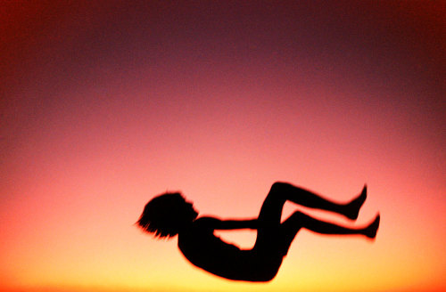 art photograph photographer fall falling lost young youth body sky sunset space