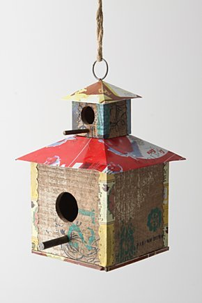 Time And Again Bird House, Red Pagoda - Anthropologie.com