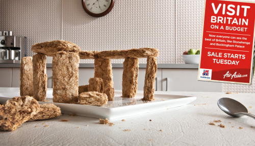 Stonehenge made of Wheetabix