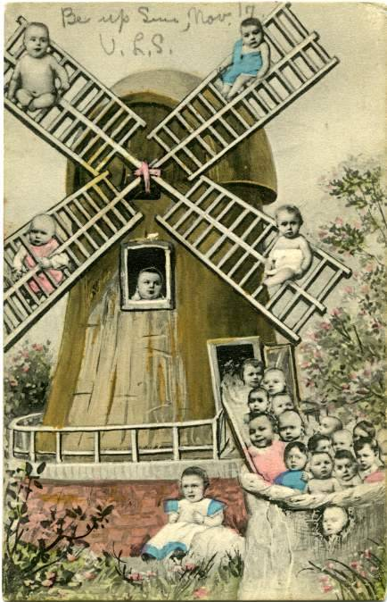 mudwerks:Vintage Postcard Blog: Twenty Babies on a Windmill (1907) [this has ended my quest for the perfect postcard…]