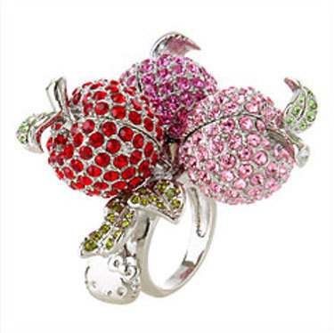Hello Kitty 3 Apples Ring - $479.99