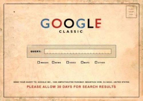 'Google Classic' .. when they say classic they mean it!