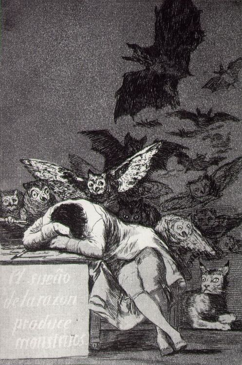 Goya -  El Sueño de la Razon Produce Monstruos (The Sleep of Reason Breeds Monsters) (1799)