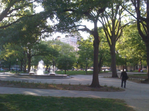 Franklin Square park, in DC. I know it's not the smallest national park, but it must be close.
