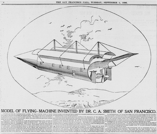 Take A Ride On Dr. Smith's Flying Machine From 1896 - Retrofuturism - io9