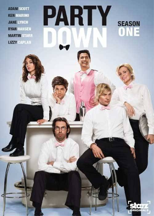 "thetalkinghead:  jeffrubinjeffrubin:  Party Down should win the Arrested Development prize for ""Amazing Comedy That Probably Won't Get the Recognition It Deserves Until It's Cancelled.""  Season 2 premieres Friday on Starz. Yes, Starz. They also post new episodes on Netflix Instant Watch. I simply can't recommend it enough, it's got the exact right amounts of everything I like. It's one of the few TV shows (and even fewer comedies) I've watched twice.  I am currently watching the pilot.  I can't believe I never knew about this show.  Thanks to video on demand, I will be caught up in no time.  And after one episode, I know Jeff Rubin is correct.  It has nothing to do with him actually being funny, even though he kind of is.  Just kind of.   The first season of Party Down was hilarious, I loved it. I was so relieved when I heard there would be a second season. And yes, Gleeks, that's Jane Lynch. And yes, that is Dick Casablancas. And yes, I did spend a good part of my time watching this series pretending it was an odd, yet satisfying, season of Veronica Mars."