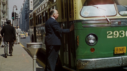 Hitchcock's cameo on his film North By Northwest (1959).