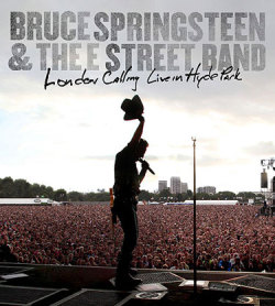 """LONDON CALLING DVD SET FOR JUNE 22Less than a year after the June 28, 2009 ""Hard Rock Calling"" festival in London, Bruce Springsteen and the E Street Band's performance there will see release asLondon Calling: Live in Hyde Park. The concert film, which kicks off with the titular Clash song and runs more than two-and-a-half-hours, is set for release from Columbia on June 22, on one Blu-Ray disc and as a two-DVD set. From this morning's press release:  …the 163-minute film documents 26 tracks of live Springsteen that begin in daylight and progress through a gorgeous sunset into night.London Calling: Live In Hyde Park conveys both the experience of being on-stage and the vast crowd experience of the festival environment. Viewers are able to see Springsteen spontaneously directing the E Street Band and shaping the show as it evolves. The set list spans from Born to Run era to Working on a Dream and includes rare covers such as The Clash's ""London Calling,"" Jimmy Cliff's ""Trapped,"" The Young Rascals' ""Good Lovin',"" and Eddie Floyd's ""Raise Your Hand."" Springsteen also performs fan favorite ""Hard Times (Come Again No More),"" written by Stephen Foster in 1854. Brian Fallon from The Gaslight Anthem joins the band as a guest vocalist on Springsteen's own ""No Surrender.""  For more on the show itself, see the report in our Setlists section. As for the DVD's setlist, only ""Rosalita"" — a performance that was previously broadcast for an abridged TV special — has been dropped. The release adds two bonus clips: ""The River"" from Glastonbury 2009 (remember all that steam rising off Bruce?) and the ""Wrecking Ball"" video from Giants Stadium. Producer/editor Thom Zimny and director Chris Hilson oversaw the film, with audio mixed by Bob Clearmountain. The full track list:1. London Calling2. Badlands3. Night4. She's the One5. Outlaw Pete6. Out in the Street7. Working on a Dream8. Seeds9. Johnny 9910. Youngstown11. Good Lovin'12. Bobby Jean13. Trapped14. No Surrender15. Waiting on a Sunny Day16. Promised Land17. Racing in the Street18. Radio Nowhere19. Lonesome Day20. The Rising21. Born to Run22. Hard Times (Come Again No More)23. Jungleland24. American Land25. Glory Days26. Dancing in the Dark27. Music under end credit sequence: Raise Your Hand BONUS MATERIAL:The River: Glastonbury Festival, 6/27/09Wrecking Ball: Giants Stadium, 2009 Late last year, Springsteen manager Jon Landau told Rolling Stone that there were two releases in the pipeline for 2010: a Darkness on the Edge of Town box, and a DVD from the Working on a Dream tour. One down, one to go! ""  via Backstreets.com: Springsteen News"