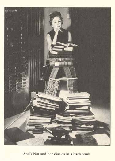 Anais Nin with her diaries