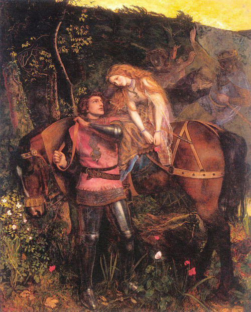 La Belle Dame Sans Merci. Arthur Hughes (1832-1915). Oil on canvas  We now have 600 followers. Thank You!
