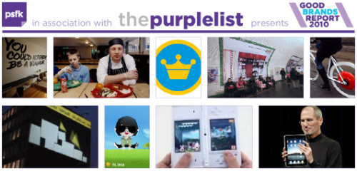 "We're really proud to be on PSFK's 2010 Good Brands List, along with Google, Apple, Nike, IKEA, and Twitter. PSFK credits Ace's use of ""storytelling and collaboration"" and  our celebration of ""local design and engagement"" for the honor of sharing such good company on this year's list."