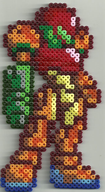 fuzzbuttbeads:  Samus, done up in SSB style. Quite a nifty little sprite.