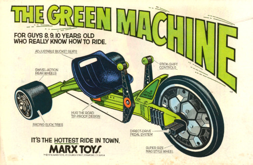 aeromachusa:  nevver:  The Green Machine  I love Trikes!